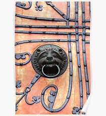 Gate or Door Handle of middle Ages in Germany Poster