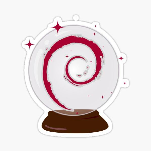 Debian Crystal Ball Sticker