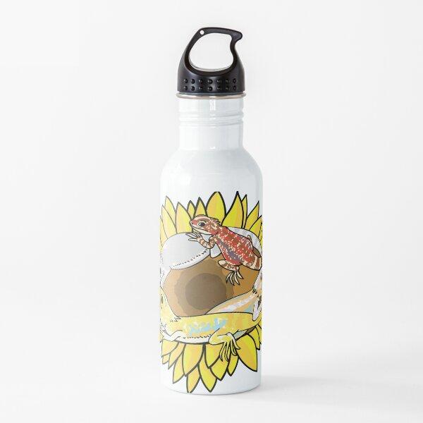 Bearded Dragons on Sunflower Water Bottle