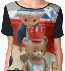Sandman and Teddy Bear from East Germany `DDR` Chiffon Top