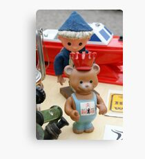 Sandman and Teddy Bear from East Germany `DDR` Canvas Print