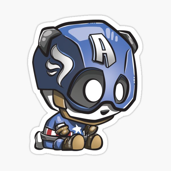Captain Panda! Sticker