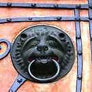 Middle Ages door handle, gate in Germany by Remo Kurka