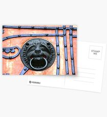 Middle Ages door handle, gate in Germany Postcards