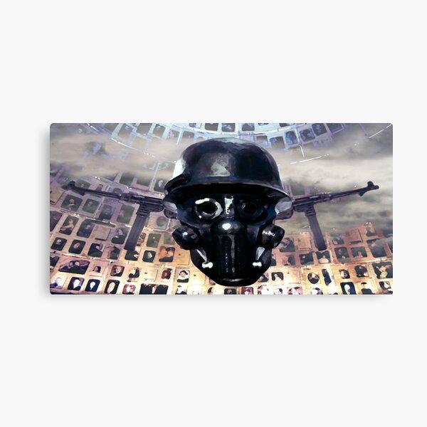 Victimal Horsemen Of Black Helmets Canvas Print