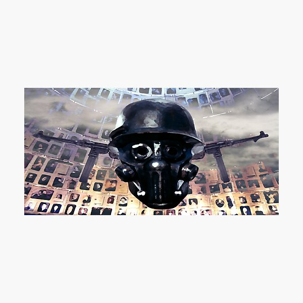 Victimal Horsemen Of Black Helmets Photographic Print