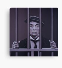 Buster Keaton Painting Canvas Print