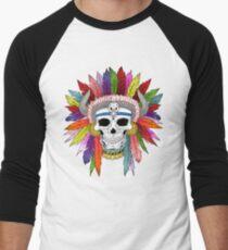 Shamanistic skull Men's Baseball ¾ T-Shirt