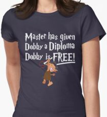 Dobby Graduate- No year Womens Fitted T-Shirt