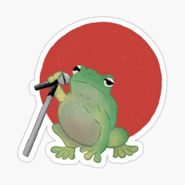 Frosch mit Mikrofon  Sticker