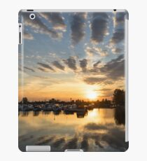 Cloud Alignment - Perfectly Positioned Clouds Emphasize the Sunset iPad Case/Skin