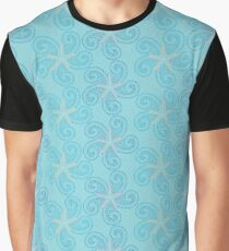 Swirling Starfish Graphic T-Shirt