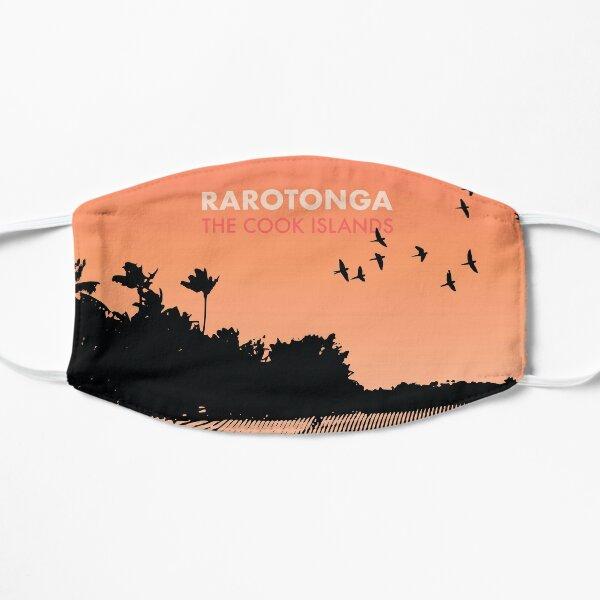 Rarotonga Island Minimalist Art - Cook Islands Gift Flat Mask