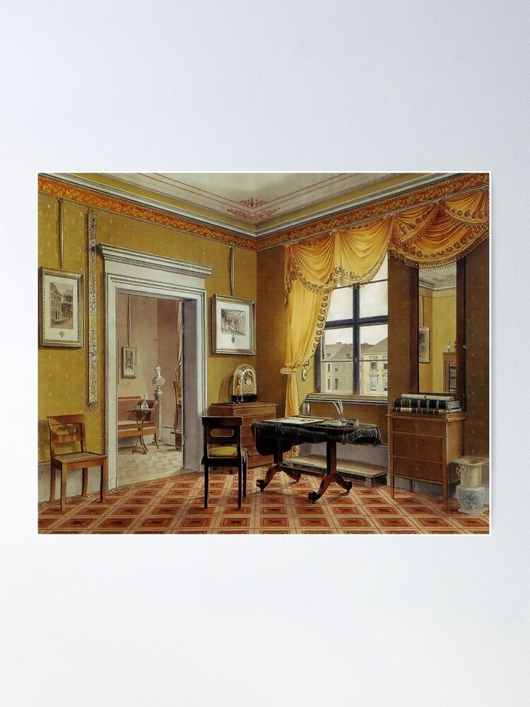Alternate view of Biedermeier era Zimmerbild...Berlin, circa 1825 Poster