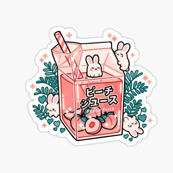 Peach Juice Sticker