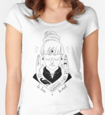 Moon / Death Women's Fitted Scoop T-Shirt