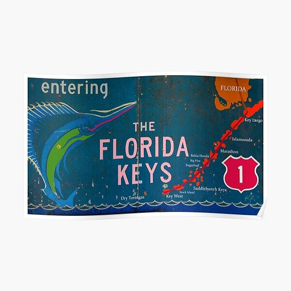 Entering The Florida Keys Poster