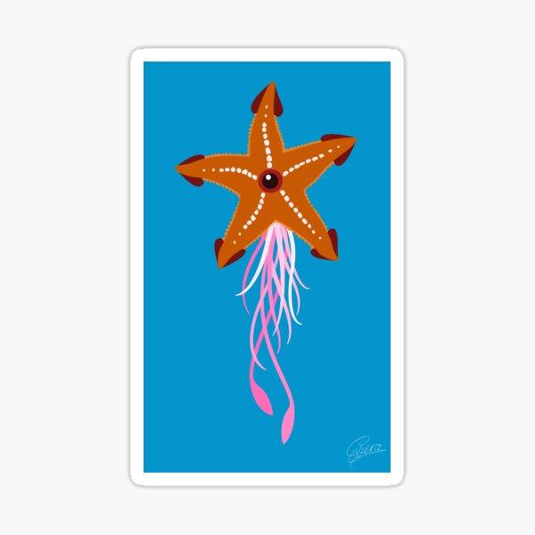Common Starfish - Flying Squid Sticker