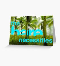 The Simple Bare Necessities Greeting Card