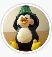 Vintage Penguin - Circle2 Sticker
