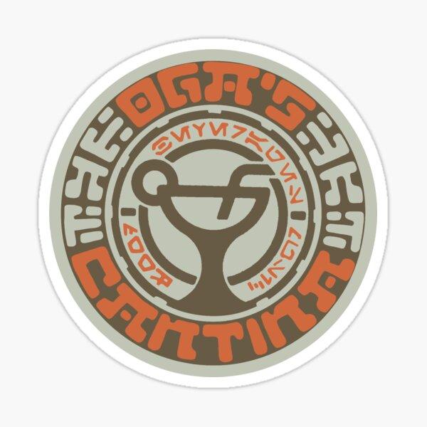 Oga's Cantina Coaster logo Sticker