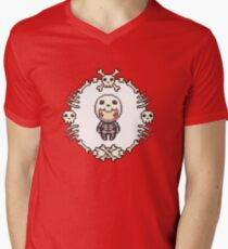 The Skeleton Mens V-Neck T-Shirt