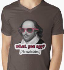 Shakespeare - 'What, you egg?' alternate text Men's V-Neck T-Shirt