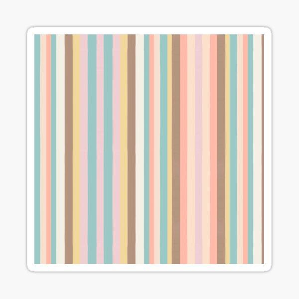 Pale Stripes Sticker