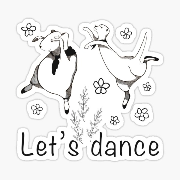 Let's Dance Otter and Guinea Pig Sticker