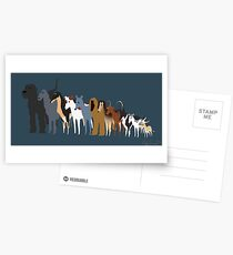 Sighthound Line Up Postcards