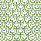 Green fan repeat 1 by Edward Huse