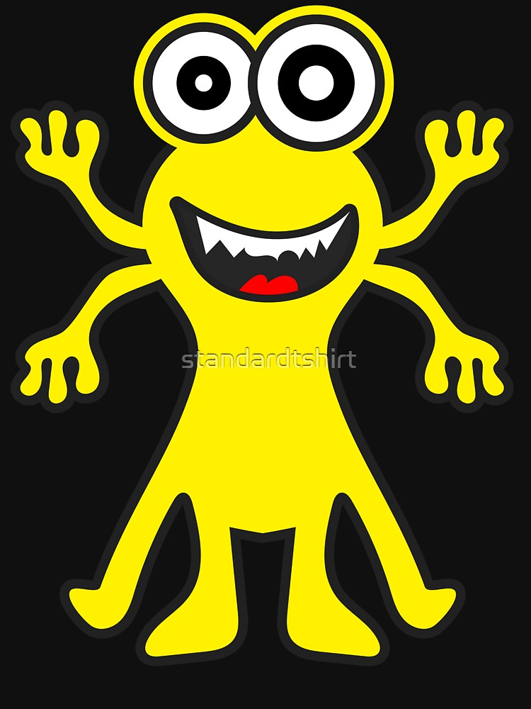 Funny Monster Crazy Face Colorful Funny Monster Cute Monster  by standardtshirt