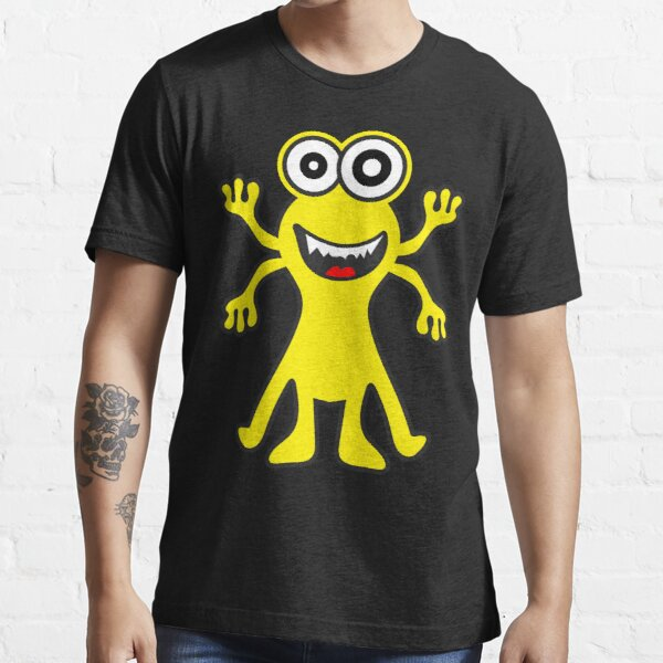 Funny Monster Crazy Face Colorful Funny Monster Cute Monster  Essential T-Shirt