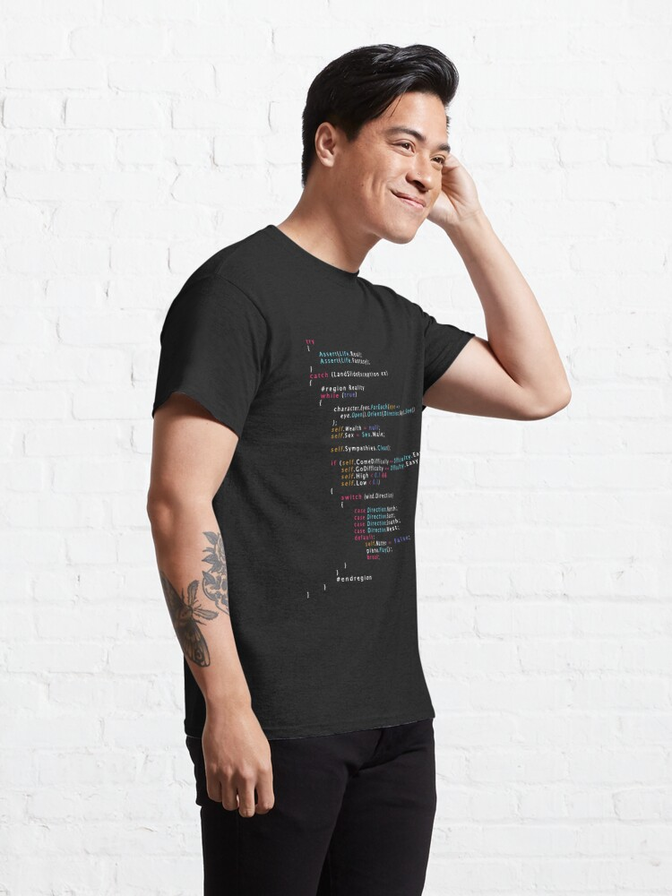 Alternate view of Is This The Real Life Coding Programming Color Classic T-Shirt