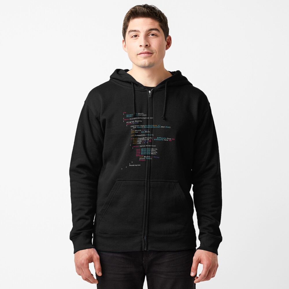 Is This The Real Life Coding Programming Color Zipped Hoodie