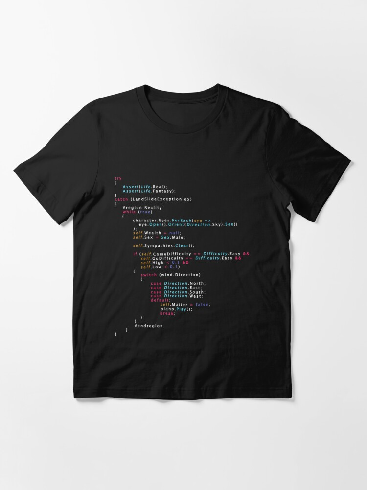 Alternate view of Is This The Real Life Coding Programming Color Essential T-Shirt