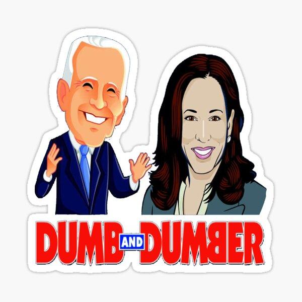 Pro-Trump Dumb And Dumber Anti-Biden Harris 2024 Sticker