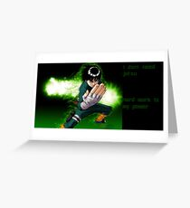 rock lee work hard  Greeting Card
