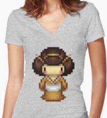 golden geisha Women's Fitted V-Neck T-Shirt