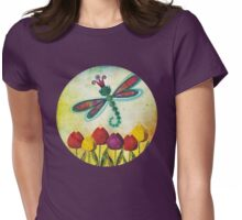 Dragonfly & Tulips Womens Fitted T-Shirt