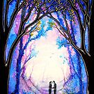 First Kiss - Trees by Linda Callaghan