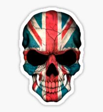 British Flag Skull  Sticker