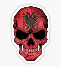 Albanian Flag Skull Sticker