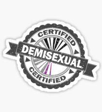 Certified Demisexual Stamp Sticker