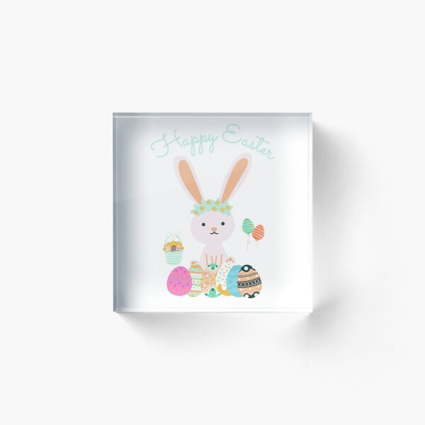Happy Easter Day Acrylic Block