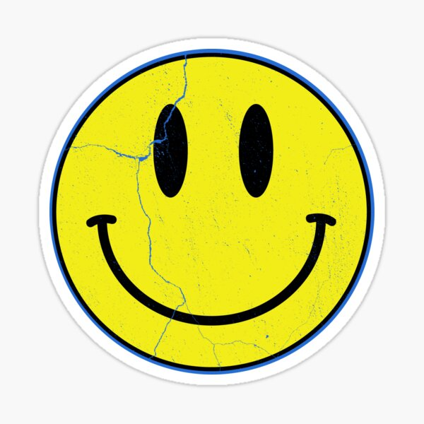 Vintage Rave Smiley Face Sticker