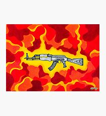Machine Gun Funq Photographic Print