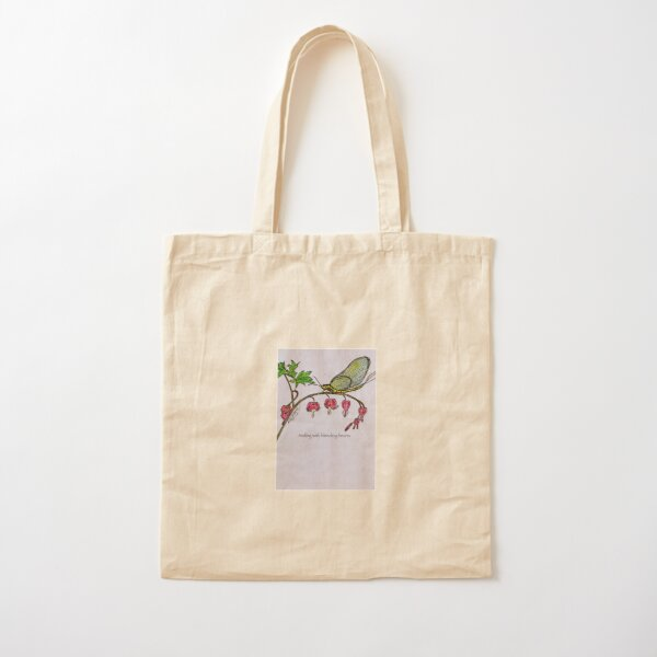 Bleeding Hearts Cotton Tote Bag