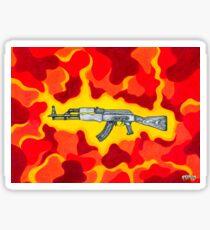 Machine Gun Funq Sticker