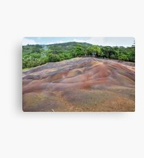 The Mauritius Collection - Chamarel - Coloured Earth (1) Canvas Print
